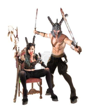 Fantasy faun couple