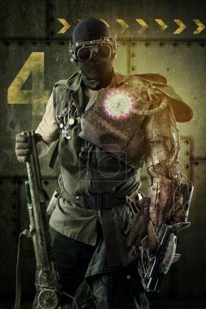 futuristic warrior soldier