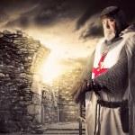 Knight Templar posing near some ruins...
