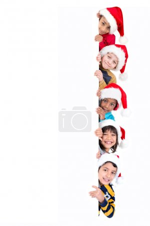 Children with a white board