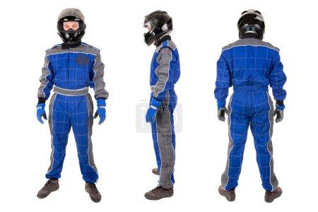Racing drivers with helmet