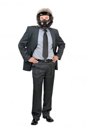 Business man with helmet