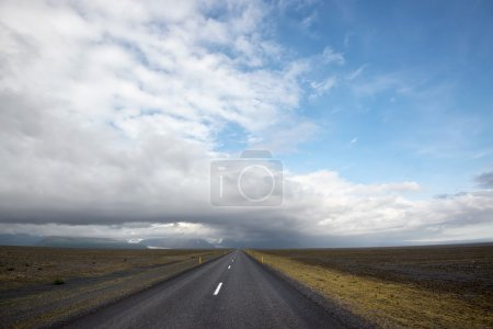 Empty road in Iceland