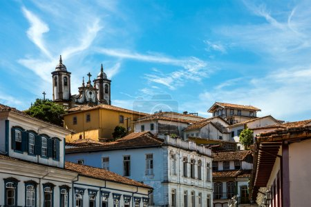 City of Ouro Preto in Minas Gerais, Brazil