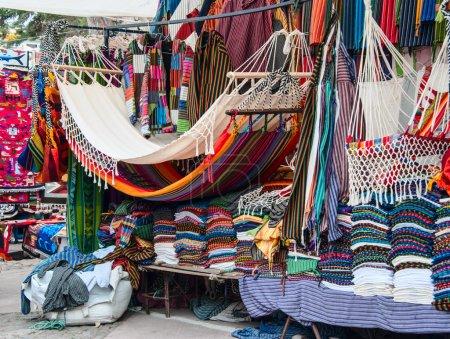 Famous Indian market in Otavalo, Ecuador