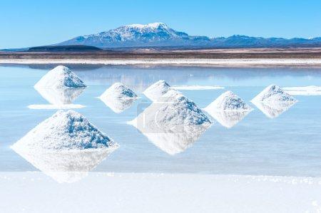Photo pour Lac salé Uyuni en Bolivie - image libre de droit