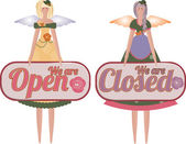 Two Tilda Angel Dolls with tablets Open Closed