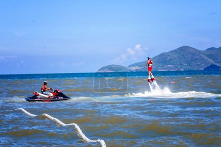 Water sports, extreme sports, sports on water, flyboard