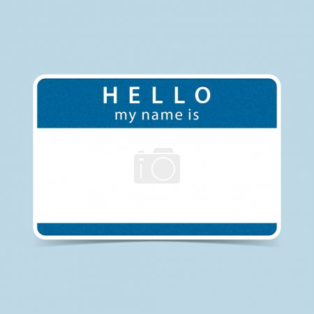 Blue blank name tag