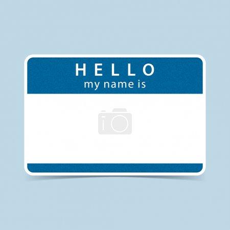 Blue blank name tag