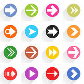 16 arrow flat icons