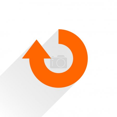 Orange arrow icon reload, refresh, rotation, reset, repeat sign
