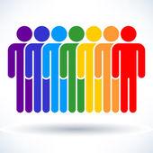 Colored  people (men figure)