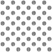 Seamless pattern with black polka dots