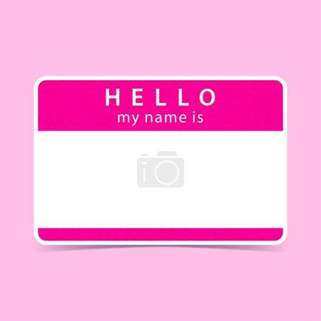 Pink name tag blank