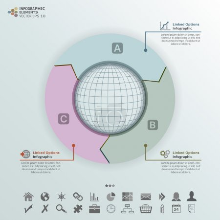 Round Arrows Infographic Elements