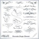 Calligraphic decorative elements in vector format....