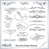 Calligraphic decorative elements in vector format Ideal for creative layout greeting cards invitations books brochures stencil and many more uses