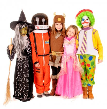 Photo for Little kids in costume isolated in white - Royalty Free Image