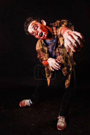 Evil male zombie