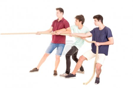teens playing rope game