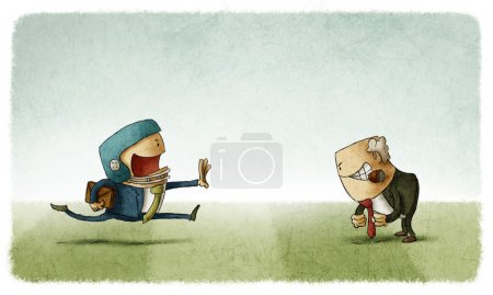 Photo for Sport Business confrontation illustration - Royalty Free Image