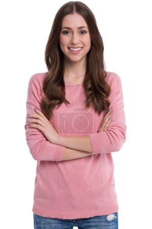 Photo pour Plan studio d'une jeune femme séduisante - image libre de droit