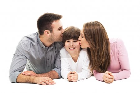 Happy family with son