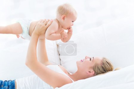 Photo for Mother and baby spending time together - Royalty Free Image