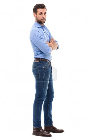 Photo for Young man over white background - Royalty Free Image