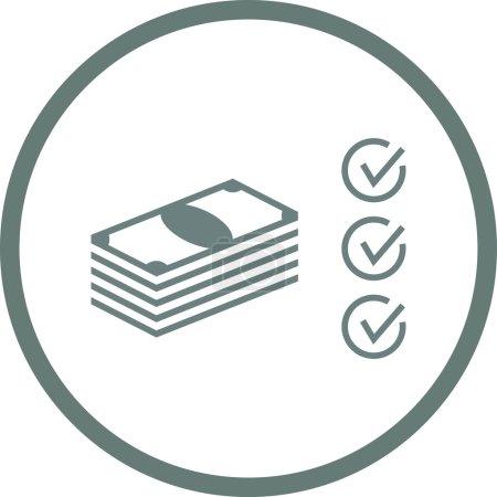 Photo pour Plan financier - Bouton - Plan financier - Stack of Money Icon - Illustration d'actions - image libre de droit
