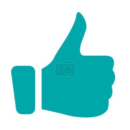 Foto de Ilustración de retroalimentación positiva con el icono de pulgares hacia arriba . - Imagen libre de derechos