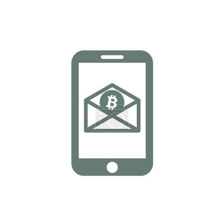 Digital money icon. E-commerce icon. Bitcoin icon. Innovative cr