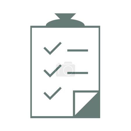 Illustration for Checklist Clipboard - Stock Illustration. List of completed tasks - Royalty Free Image