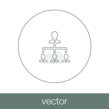 Illustration pour Concept de gestion des ressources Icône. Illustration de stock icône design plat . - image libre de droit