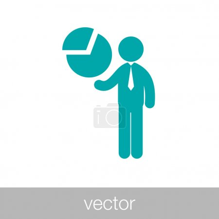 Business Project presentation icon.