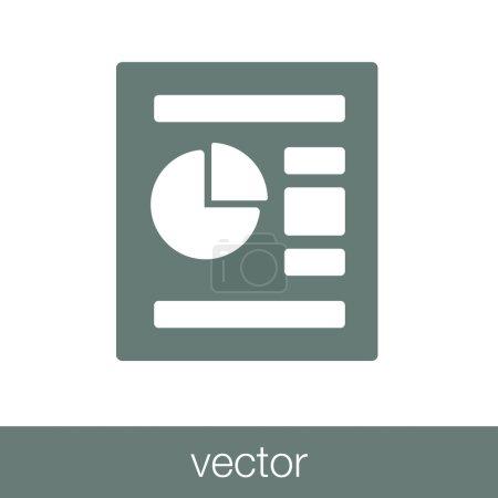 Data analysis report icon