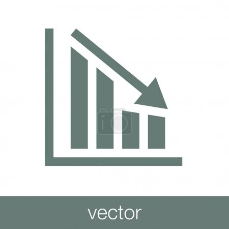 Declining graph icon - declining chart icon - busi...