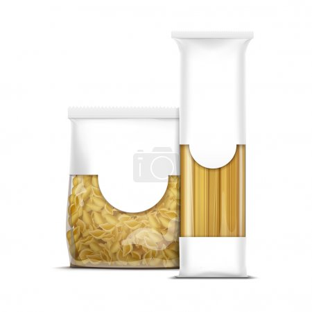 Spaghetti and Shells Pasta Packaging Template