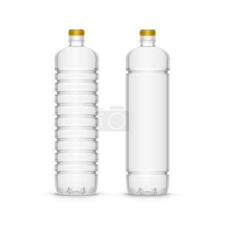 Vector Plastic Sunflower Olive Oil Blank Bottle