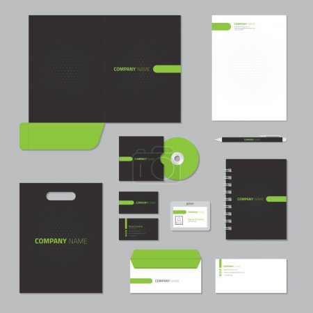 Illustration for Stationery template design. Corporate identity business set. - Royalty Free Image