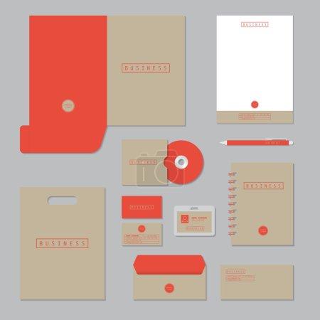 Illustration pour Modèle de papier à lettres. Identité visuelle entreprise ensemble. - image libre de droit