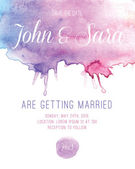 Akvarel svatební pozvánky