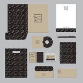 Stationary template design Corporate identity business set
