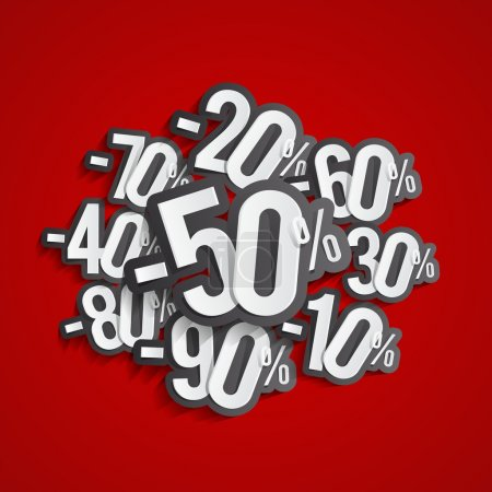 Illustration pour Creative Abstract Hard Discount Grande vente sur fond vectoriel illustration - image libre de droit
