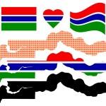 Постер, плакат: Map Gambia
