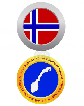 botón como símbolo NORUEGA