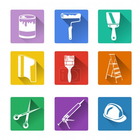 Illustration for Flat icon, home repair. vector illustration - Royalty Free Image