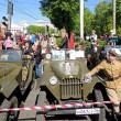 Постер, плакат: Jeep GAZ 67 and man in the uniform of Polish Army of WWII