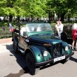 Постер, плакат: Retro car of 1950 70s soviet jeep UAZ 69 GAZ 69 without top up